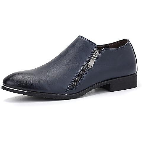 Zapatos de los hombres de Inglaterra/Cremallera doble señaló los zapatos/Botas Martin/Zapatos de hombre/ para jóvenes/ zapatos de flashes de