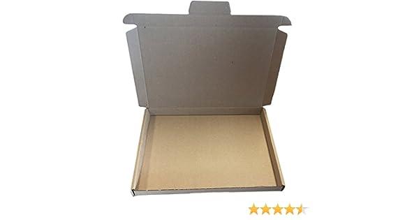 200 Großbrief Karton 180 x 160 x 15 mm Brief Postkarton Box Faltschachtel braun