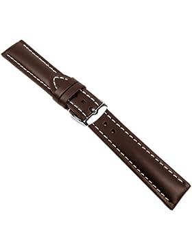 Swiss Chrono I Ersatzband Uhrenarmband Kalbsleder Dunkelbraun 20645S, Stegbreite:22mm
