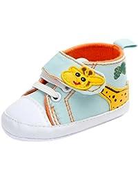 Zapatos De Bebé Botas Patucos Recién nacido bebé cuna zapatos lindo Zapatillas antideslizantes bebé Niñas Niños Primeros pasos para Bebé niños niñas Amlaiworld (Azul claro, Tamaño:3-6Mes)