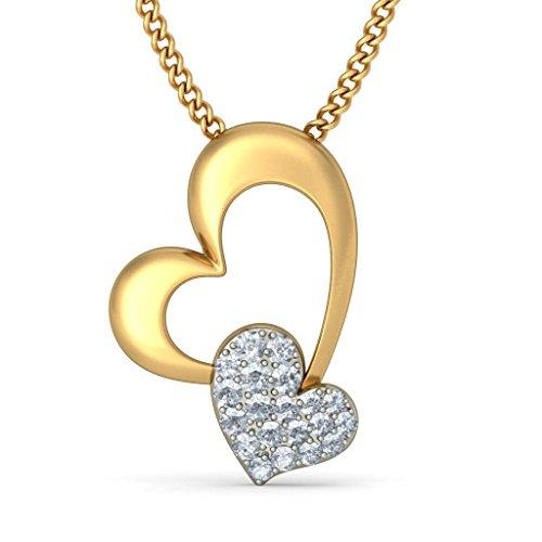 BlueStone 14K Yellow Gold and Diamond Pendant