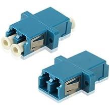 SC-LC Single-Mode Duplex Fiber Flange / Connettore / adattatore / Lotus Root Device(Blue)