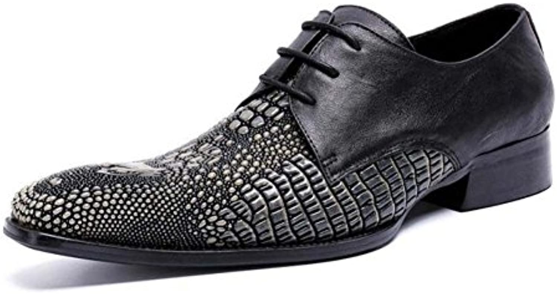 Winklepicker Business Casual Lederschuhe Männer Pump Square Toe Reine Farbe Gummiband Brautkleid Schuhe Oxford