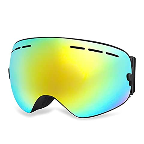 HAMSWAN Ski-Schutzbrille Motorrad Goggle Anti-fog OTG UV400
