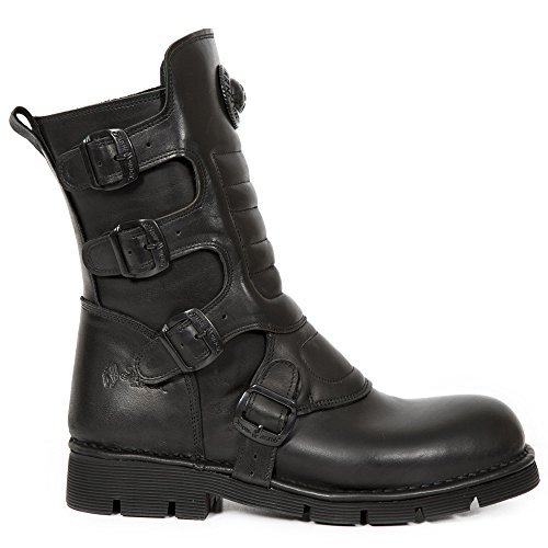 New Rock 373x-s6, Bottes Motardes Mixte Adulte Noir