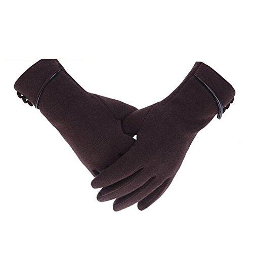 yeshi Fashion Frauen Telefon Touch-Handschuhe Winter Warm Winddicht Outdoor Sport Handschuhe, coffee