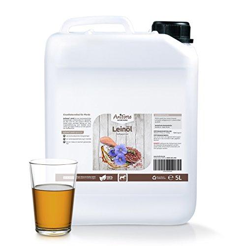 AniForte kaltgepresstes Leinöl 5 Liter- Naturprodukt für Hunde, Katzen & Pferde - (Qualitäts-ID: 509 A 02)