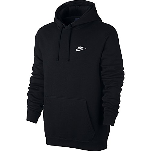 Nike M NSW Hoodie PO FLC Club Sudadera, Hombre, Negro Black/White