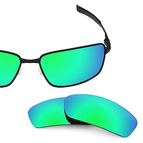 Verres de rechange pour Oakley Splinter — Plusieurs options Vert Emeraude MirrorShield® - Polarisés