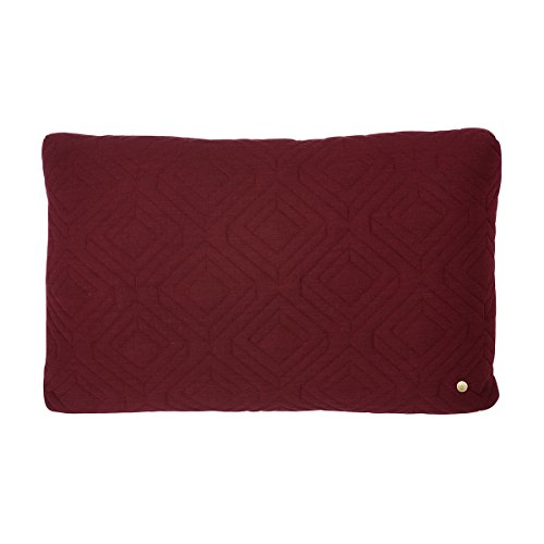 Ferm Living - Quilt Cushion - Kissen - Bordeaux - 60 x 40