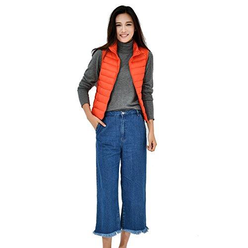 YY-Rui Manteau léger à bascule pour femme Outwear Outwear Casual Tops Orange