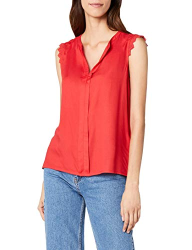 ONLY NOS Damen Top onlKIMMI S/L WVN NOOS, Rot (Mars Red), 38