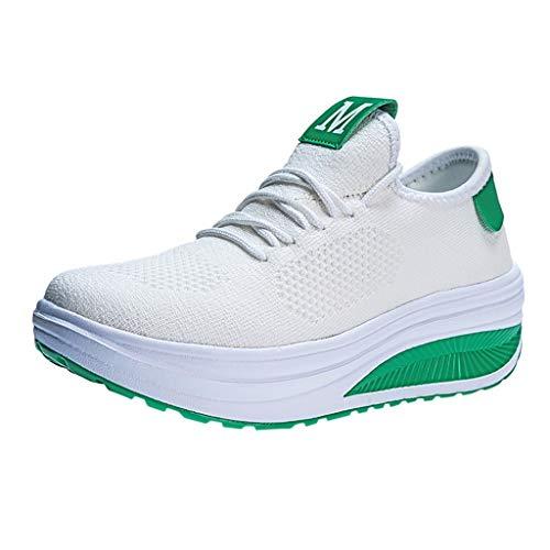 generisch Damen Sneaker Mädchen Mode Laufschuhe Freizeit Sportschuhe mit Mode Frauen Mesh Weiche Unterseite Schaukelschuh Student Working Sneakers -