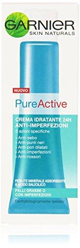 Garnier Pureactive Crema Idratante Anti-Imperfezioni per Pelli Grasse o con Imperfezioni 40 ml