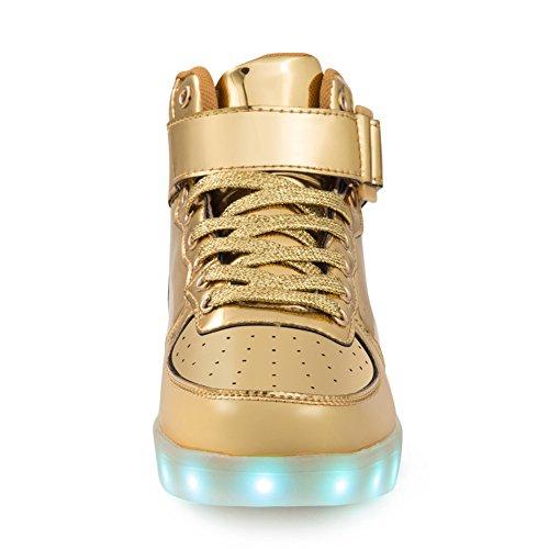 Schuhe Mit Led Sohle Leuchtschuhe Sportschuhe Blinkende Sneaker Licht Kinder Mädchen Jungen Erwachsene Gold