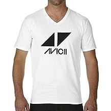 Friendly Bees Avicii Tim Berg Electronic Music Star Ibiza Logo T-Shirt Col V pour Les Hommes