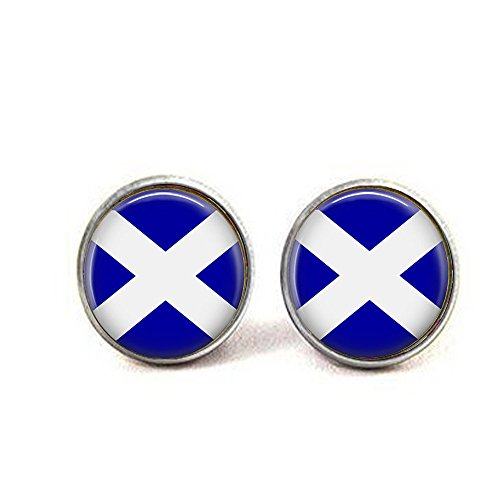 b2b Schottland-Flagge Schmuck - Schottischer Schmuck - Schottische Flagge Ohrringe - Flagge von Schottland - Scott Jewelry - Schottischer Schmuck - Schottischer Schmuck