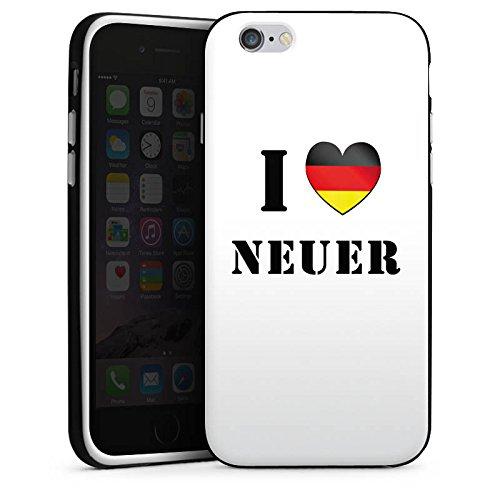 Apple iPhone X Silikon Hülle Case Schutzhülle Fußball Manuel Neuer I Love Neuer Silikon Case schwarz / weiß