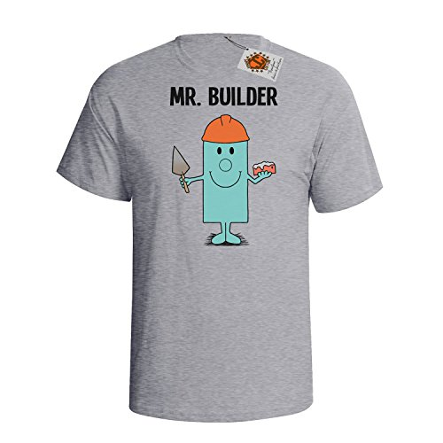 `Mr Builder` mens herren Hobbies / Berufe perfect gift t shirt Grau