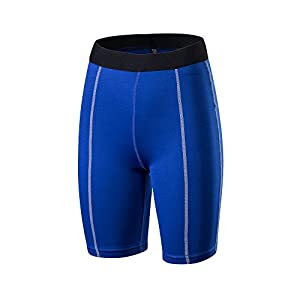 Barrageon Damen Kompressionsshorts Schnell Trocknend Base Layer Elastisch Kompression Funktionswäsche Strumpfhose Fitness Lauf Gym Training Basketball Jogging Sport Shorts