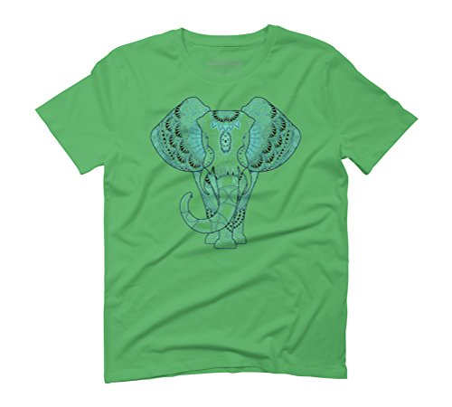 Turquoise Elephant Men's Graphic T-Shirt - Design By Humans Green