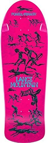 Powell Peralta Bones Brigade Lance Mountain Future Primitive Pink Re-Issue Deck 10.00 by Bones Brigade