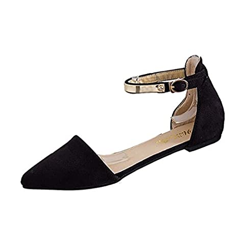 pointed Shoes - TOOGOO(R)Woman Shoes Spring Summer Pointed Toe suede Flats Soft Fashion Brief sandals Black US8