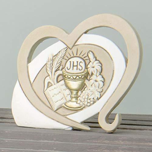 4 pezzi icona amore con calice in resina bomboniera comunione