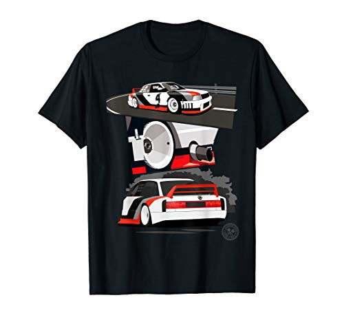 Automotive Apparel: Vintage Racing Race Car T-Shirt -