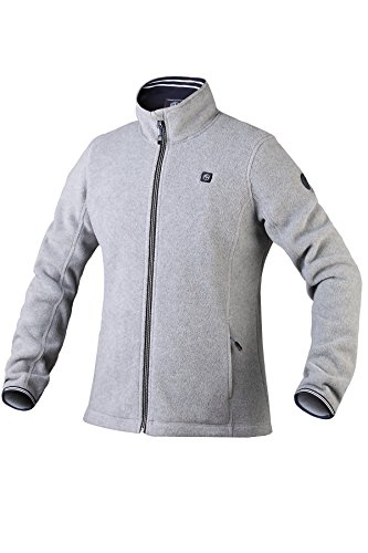 Pau1Hami1ton PJ-06 Damen Winterjacke beheizbare Heiz-Jacke beheizbare Softshell-Jacke Heat Jacket Hoodie Reissverschluss warm Jacke (5V / 2A or Higher Power Bank (L, Grey)