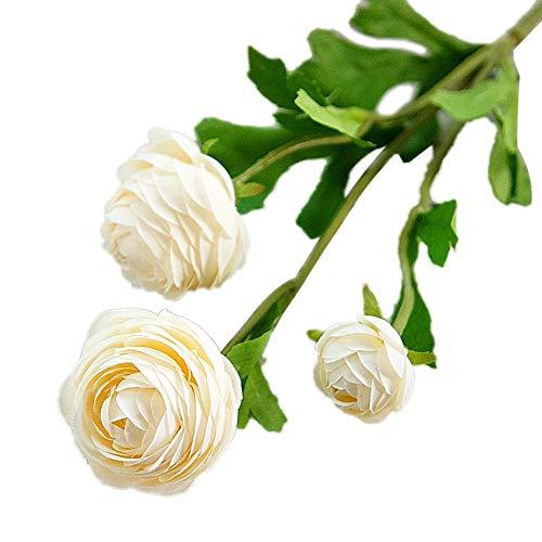 TLfyajJ Künstliche Blume Hausgarten Braut Hochzeit Arrangement Party DIY Dekor 1 Stück Leichter Champagner
