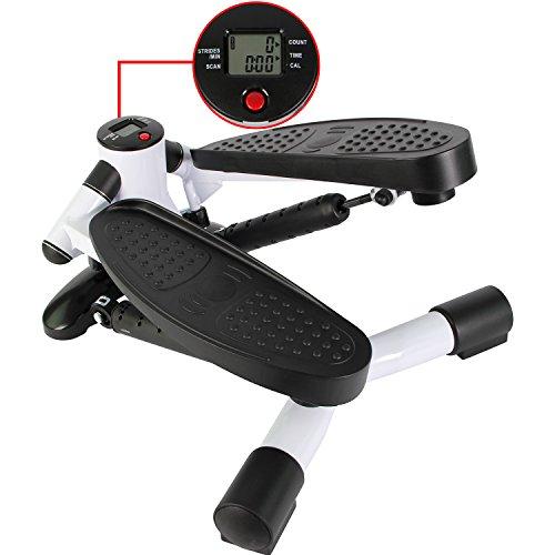 Mini-Stepper / Side-Stepper von POWRX mit LCD - Trainingscomputer | Kalorienzähler / Schrittzähler / Timer / Fitnessgerät
