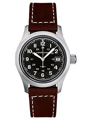Hamilton Men's Analogue Quartz Watch with Leather Strap H68411533