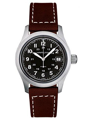 hamilton orologio analogico quarzo uomo con cinturino in pelle h68411533
