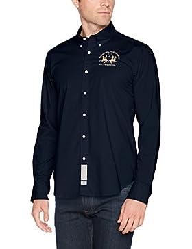 La Martina Man Shirt L/S Poplin Stretch, Camisa Casual para Hombre