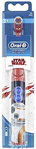 Oral-B Kids Battery Powered Electric Toothbrush Featuring Disney STAR WARS with Extra Soft Bristles, for Children and Toddle
