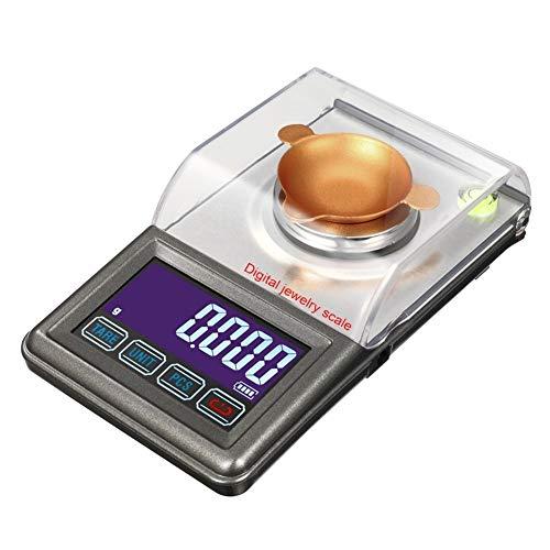 Waagen Hochpräzise Karatwaage 30 g 0,001 g Digitale Milligramm-Gramm-Waage Diamantschmuck-Laborgewicht Gemini Bilancia