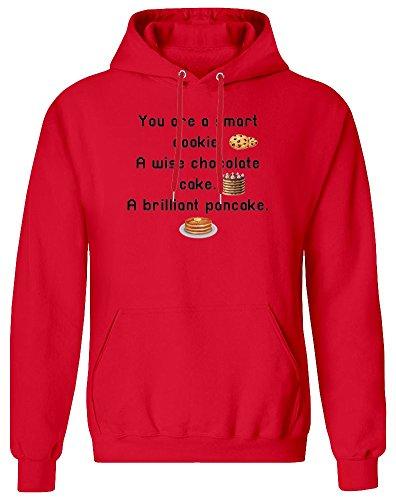 You Are Smart As A Cookie Wise Chocolate A Brilliant Pancake Hoodie Sweatshirt für Männer - 80% Baumwolle, 20% Polyester - Kundenspezifische Bedruckte Kleidung für Männer X-Large