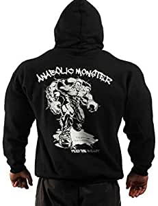 Anabolic Monster Bodybuilding Clothing Hoodie Workout Top G-53 Black Size M