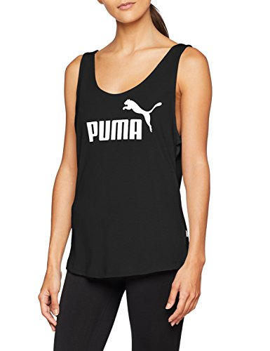 Puma Ess Logo Tank, Canotta Sportiva Donna, Grigio (Light Gray Heather), L