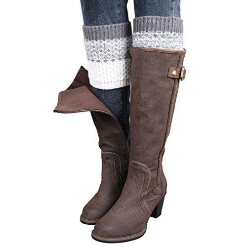Tricot Crochet Boots Cover Femme, Amlaiworld Leggings tricotés Chaussettes de botte de chauffe Boot Cover