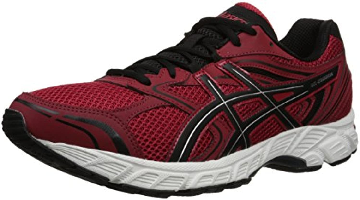 Equal Gel 8 Running Shoes para hombre, Chili Pepper / Black / Silver, 8.5 M US