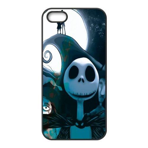 , Motiv The Nightmare Before Christmas Schutzhülle für Iphone 5/5s, personalisierbar, Schwarz