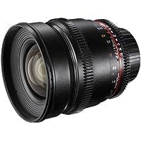 Walimex Pro 16mm 1:2,2 VDSLR Video- und Foto Weitwinkelobjektiv (Filtergewinde 77mm, Gegenlichtblende, Zahnkranz, stufenlose Blende und Fokus) für Olympus Four Thirds Objektivbajonett schwarz