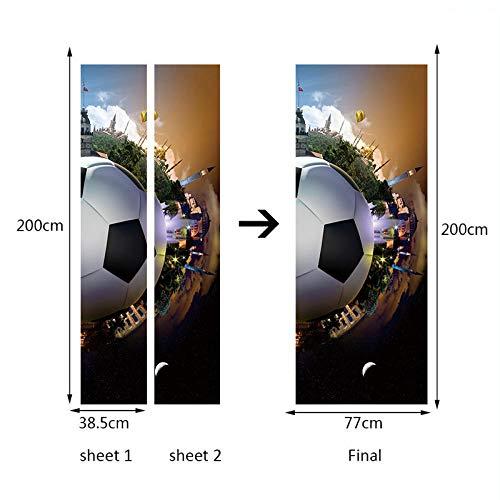 3D Türtapete 3D Türauf Kleber 3D Fußballtor Aufkleber
