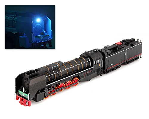 DSstyles 1:87 Lega Locomotiva a Vapore della Trazione del Motore Trenini Modello con Musica Leggera - Nero