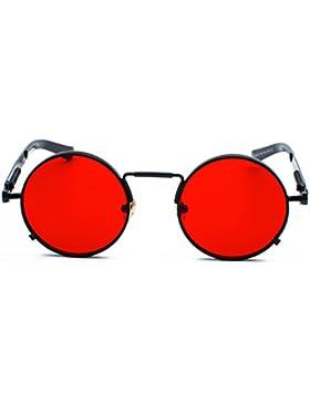 Red Peony Retro Metálico gafas de sol polarizadas Steampunk estilo retro para hombres y mujeres con protección...