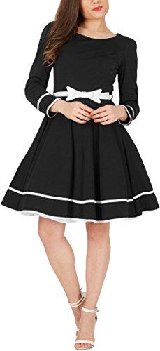 BlackButterfly 'Grace' Vintage Clarity Kleid im 50er-Jahre-Stil (Schwarz, EUR 46 - XXL) -