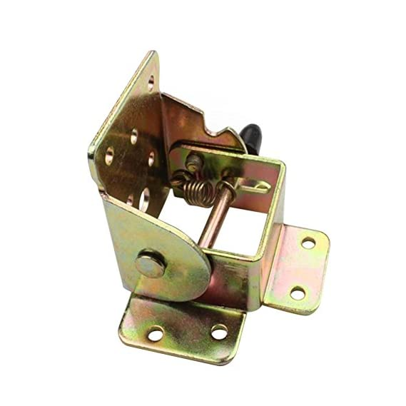 Awakingdemi Metal Locking Folding Table Chair Leg Brackets Cabinet Hinges for Furniture 73.00 * 59.00 * 55.00mm As Picture Show