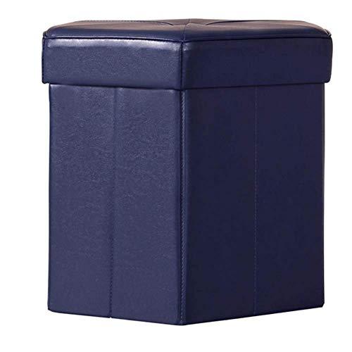 QQXX ZHANGQIANG Folding Storage Ottoman Sitz, Hocker, Spielzeug Aufbewahrungsbox Kunstleder (Red Medium) (Farbe: Schwarz, Größe: 38 * 38 * 38cm) - Osmanischen Schwarz Folding